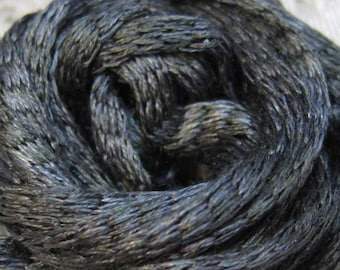 Clearance 6 Charcoal Silk Knitted Tube Cord for Kumihimo Braiding Weaving 18 yards