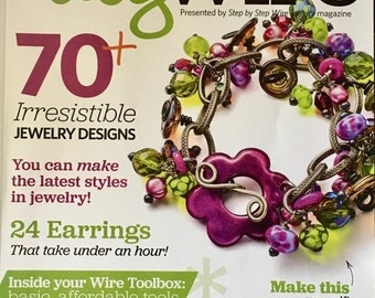 25% OFF Easy Wire Magazine Over 85 Fab Bead Resources 70 Plus Jewelry Designs 24 Earrings Wire Toolbox Stamp and Texture Buttons Colored Wir
