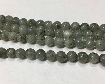Labradorite Gemstone Smooth Rounds 6mm 8 inch strand Approx 33 pcs per strand