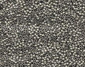 11/0 Miyuki Delica Matte Metallic Silver Glass Seed Beads 7.2 grams DB321
