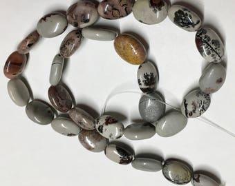 Ocean Jasper or Sea Sediment Jasper Gemstone Ovals 13mm x 10mm 16 Inch Strand 29 beads