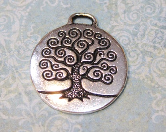 1 TierraCast Antique Silver Tree of Life Pendant 26.5mm x 23.5mm
