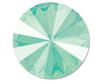 Swarovski Crystal Mint Green Faceted Rivoli Stone Beads 1122 14mm