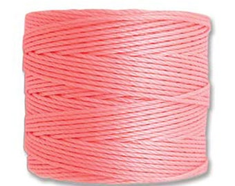 S-Lon #18 Bead Cord Light Pink Tex 210 Multi Filament Twisted Nylon Cord 77 yards