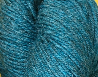 Turquoise Mirasol Huni 219 yards Worsted Weight 100 grams 100% Fine Peruvian Highland Wool color 1011