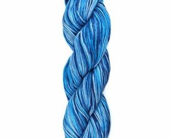 Ollagua Handpainted Pure Linen by Araucania Zafiro Aquamarine Blue DK Weight Yarn 280 yards 100% Linen color 03