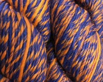 Denver Orange Blue Color Duo Alpaca Merino Wool Yarn 197 yards Worsted Weight Color 215