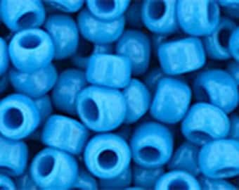 6/0 Opaque Cornflower Blue Toho Glass Seed Beads 2.5 inch tube 8 grams TR-06-43D