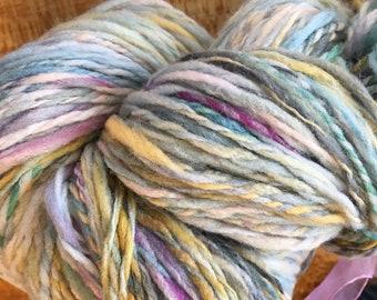 Mermaids Paintbrush Hand-spun Yarn Merino Wool 2 Ply by Housecats Hats 172 yards