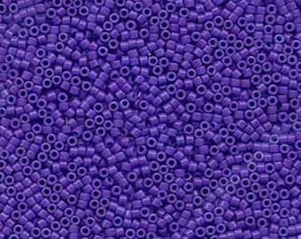 11/0 Miyuki Delica Dyed Opaque Purple Glass Seed Cylinder Beads 7.2 grams DB0661