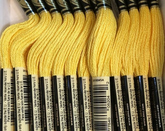 DMC 726 Light Topaz Embroidery Floss 2 Skeins 6 Strand Thread for Embroidery Cross Stitch Needlepoint Sewing Beading