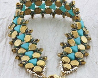 Jewelry Making Kit Honeycomb Path Beadsmith DIY Bracelet Beadweaving Bead Embroidery All Materials Included