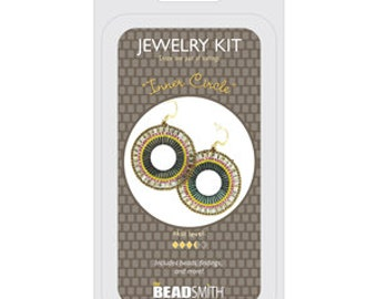 Jewelry Making Kit Inner Circle Beadsmith DIY Earrings Beadweaving Bead Embroidery All Materials Included