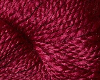 Araucania Lujoso Baby Alpaca Fine Merino Wool Mulberry Silk Worsted Weight Yarn Color 08 Wine 164 yards