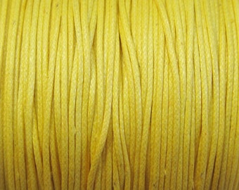 Golden Yellow Waxed Cotton Cord .5mm 10 yards for Macrame Kumihimo Knotting
