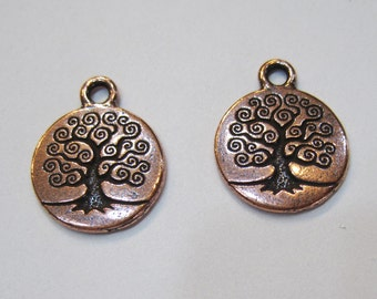 TierraCast Antique Copper Tree of Life Charms 19mm x 15.5mm One Charm F563D