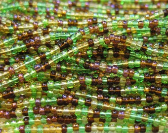 11/0 Earth Tone Mix Genuine Czech Glass Preciosa Rocaille Seed Beads 18 grams Includes Brown, Green and Gold SB11-MIX07