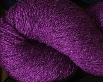 Wisteria Kathmandu DK 100 by Queensland Collection Merino Wool Silk Cashmere Tweed 295 yards DK Weight
