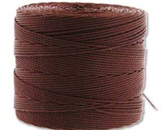 S-Lon 135 Fine Bead Cord Brown Multi Filament Twisted Nylon Cord 118 yards