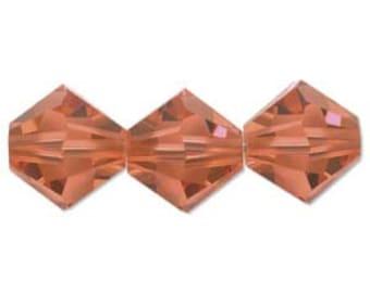 Padparadscha 5328 Bicone Swarovski Crystal Beads 4mm 48 beads