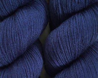 Marine Blue Cascade Heritage Yarn 437 yards Super Fine Wool Nylon Sock Yarn Color 5603