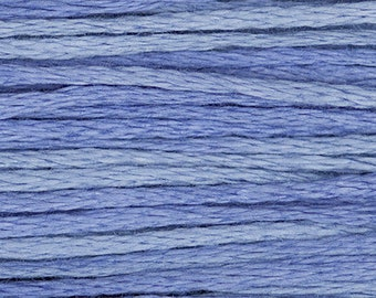 Weeks Dye Works Periwinkle Embroidery Floss 6 Strand 100% Egyptian Cotton for Embroidery Cross Stitch Needlepoint Sewing Beading 2337