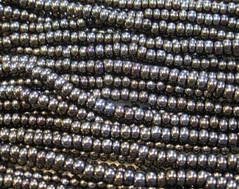 6/0 Brown Iris Genuine Czech Glass Preciosa Rocaille Seed Beads