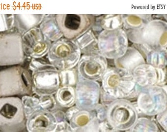 ON SALE Crystal Silver Mix Toho Glass Seed Beads 2.5 inch tube 8 grams TX-01-3201