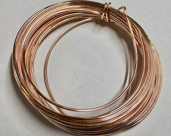 16 gauge Tarnish Resistant Rose Gold Copper Craft Wire 5 yards Made in USA