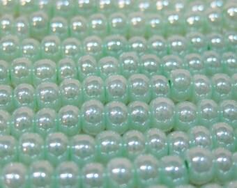 6/0 Light Mint Green Ceylon Genuine Czech Glass Preciosa Rocaille Seed Beads