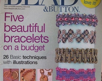 25% OFF Bead and Button Magazine Five Beautiful Bracelets on a Budget February 2010 Issue