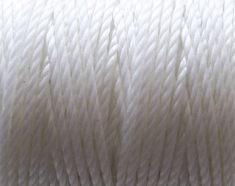 S-Lon Tex 400 White Multi Filament Cord 35 yard Spool