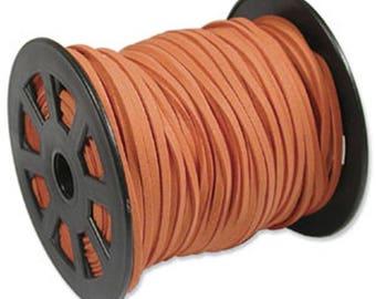 Dark Orange Ultra Micro Fiber Suede Faux Suede 3mm 6 yards