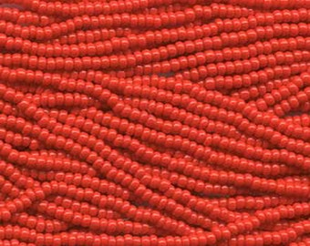 8/0 Light Red Opaque Genuine Czech Glass Preciosa Rocaille Seed Beads 37 grams