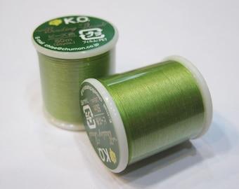 Apple Green KO Nylon Japanese Beading Thread 55 yards