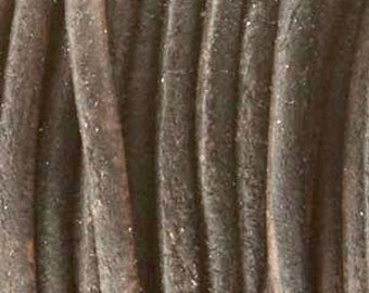 Antique Dark Brown 1.5mm Indian Leather Round Leather Cord 25 yards for Wrap Bracelets Macrame Knotting Jewelry 25 yds