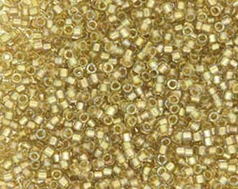 11/0 Miyuki Delica Fancy Lined Champagne Glass Seed Beads 7.2 grams DB2396