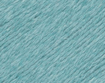 Robins Egg Blue Green United Lambswool Cotton by Queensland Collection Sport Weight Certified Organic 251 yards