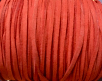 Red Ultra Micro Fiber Suede Faux Suede 3mm 6 yards