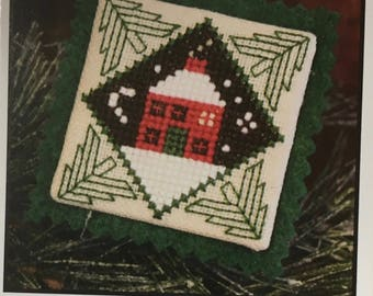 Little House Seasonal Ornament Mini Cross Stitch Sampler Pattern The Prairie Schooler 2011