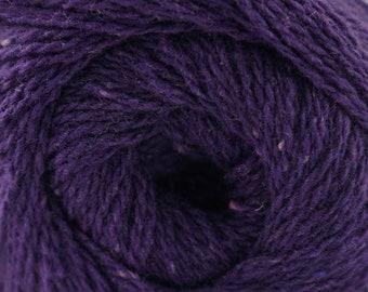 Aegean Tweed Blackberry by Cascade Organic Wool Tweed Yarn Rustic Look Yarn 328 yards DK Weight Color 13