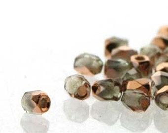 ON SALE Crystal Capri Gold 2mm True Fire Polish Czech Glass Crystal Beads 100 beads
