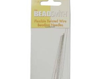"Beadalon Beading Needles Collapsible Eye Stainless Steel Medium Weight 2.5"" Pack of 4 Needles"