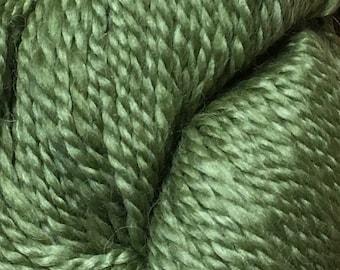 Araucania Lujoso Baby Alpaca Merino Wool Mulberry Silk Worsted Weight Yarn Color 14 Olive Green 164 yards