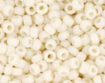 11/0 Opaque Light Beige Toho Glass Seed Beads 2.5 inch tube 8 grams TR-11-51