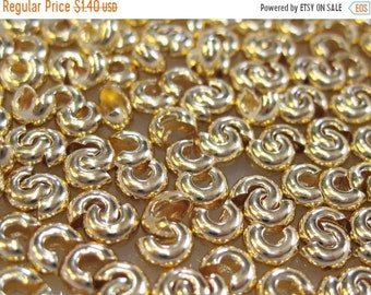 CYBER SALE Crimp Covers Gold Plated 4mm for Crimp Beads or Tubes 20 pcs F420