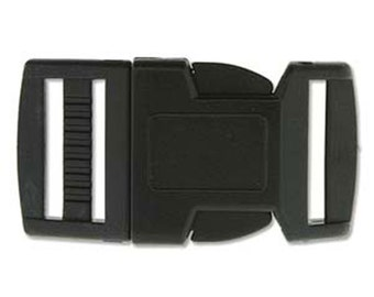 Clearance 20mm Black Paracord Macrame Buckles 4 complete sets