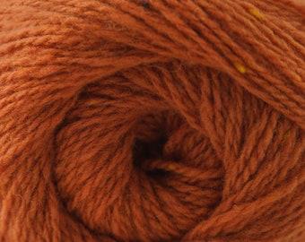 Aegean Tweed Burnt Orange by Cascade Organic Wool Tweedy Rustic Look Yarn 328 yards DK Weight Color 02
