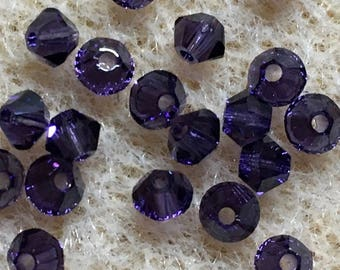 Purple Velvet 5328 Bicone Swarovski Crystal Beads 3mm Approx 48 pcs