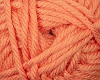 Cherub Super Bulky Incredibly Soft Papaya Orange Cascade Yarn 131 yards Acrylic Nylon Blend Color 90
